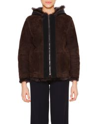Callens - Brown Reversible Shearling Jacket - Lyst