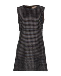 Erika Cavallini Semi Couture - Gray Short Dress - Lyst