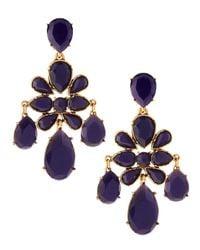 Oscar de la Renta - Multicolor Faceted Chandelier Clipon Earrings - Lyst