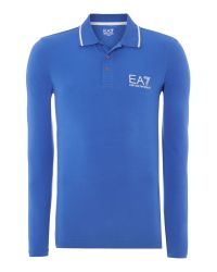 EA7 | Blue Logo Polo Regular Fit Polo Shirt for Men | Lyst