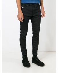 DIESEL - Black 'spender' Skinny Jeans for Men - Lyst