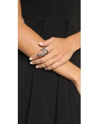 Alexis Bittar - Metallic Wrapping Serpent Cocktail Ring - Ruthenium - Lyst