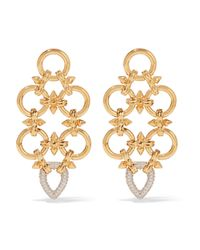 Noir Jewelry | Metallic Gabriella Gold-tone Cubic Zirconia Earrings | Lyst