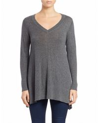 DKNY | Gray Trapeze Knit Pullover | Lyst
