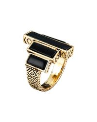 House of Harlow 1960 - Black The Long Rains Steps Ring - Lyst