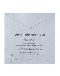 Dogeared - Metallic Circle Necklace - Lyst