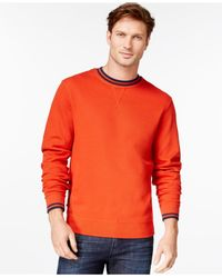Cutter & Buck | Orange Men's Big And Tall Heritage Crew-neck Sweater for Men | Lyst