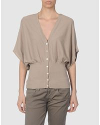Scee By Twin-set - Gray Cardigan - Lyst