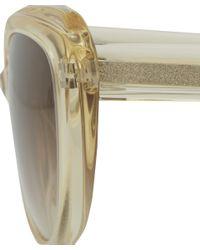 Barton Perreira - Metallic Champagne Javotte Cat Eye Sunglasses - Lyst