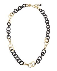 Ashley Pittman | Metallic Mawani Dark Horn & Bronze Necklace | Lyst