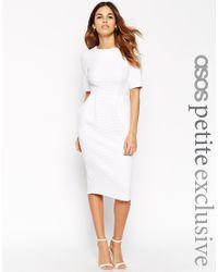 ASOS - Textured Wiggle Dress - Pink - Lyst