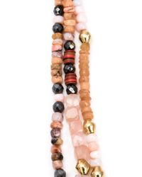 Royal Nomad Jewelry Brown Mixed Stone Beaded Necklace