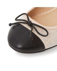 Dune - Natural Hascha Studded Ballerina Shoes - Lyst