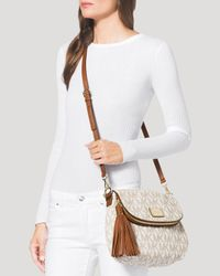 MICHAEL Michael Kors - White Shoulder Bag - Medium Bedford Tassel Convertible - Lyst