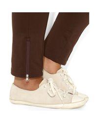 Lauren by Ralph Lauren - Brown Plus Size Ankle Zip Pull On Pants - Lyst