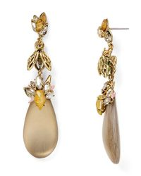 Alexis Bittar - Gray Lucite Bumble Bee Drop Earrings - Lyst