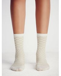Free People | Natural Hansel From Basel Womens Uptowner Crew Sock | Lyst