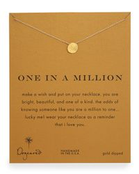 Dogeared - Metallic One In A Million Gold-dipped Necklace - Lyst