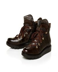 Moda In Pelle - Brown Calmia Low Casual Short Boots - Lyst
