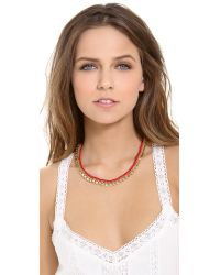 Madewell | Red Braided Geo Chain Necklace Rusted Clay | Lyst