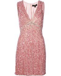 Jenny Packham | Pink Sequin Embellished Dress | Lyst