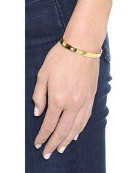 Elizabeth and James - Bassa Cuff Bracelet Yellow Gold - Lyst