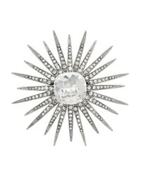 Kenneth Jay Lane | White Starburst Brooch | Lyst