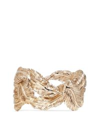 Valentino | Metallic Feather Cuff | Lyst