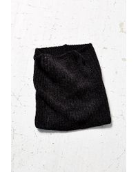 Urban Outfitters | Black Chenille Wide Rib Funnel Scarf | Lyst