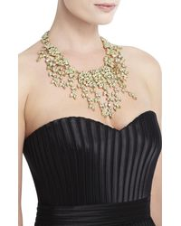 BCBGMAXAZRIA | Green Drape Leaf-stone Necklace | Lyst