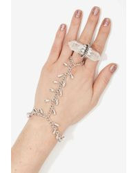 Nasty Gal | Now Drop Metallic Hand Piece | Lyst