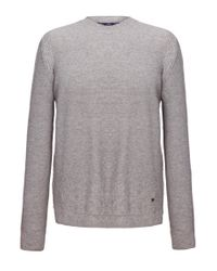 BOSS Orange | Gray New-wool Sweater 'acesto' for Men | Lyst