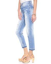 Maison Scotch - Blue Boyfriend Jeans - Lyst