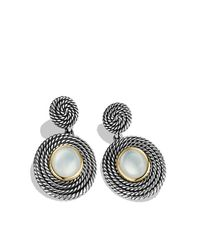 David Yurman | Metallic Moonstone Doublet 18k Gold Sterling Silver Drop Earrings | Lyst