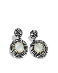 David Yurman - Metallic Moonstone Doublet 18k Gold Sterling Silver Drop Earrings - Lyst