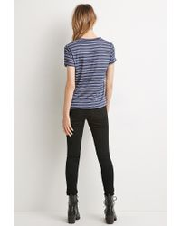 Forever 21 | Blue Classic Striped Tee | Lyst