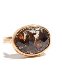 Melissa Joy Manning | Gray 3.3 Carat Grey And Red Oval Diamond Slice Ring | Lyst