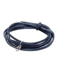 Dalla Nonna | Blue Little Letter Wrap Bracelet In Silver | Lyst