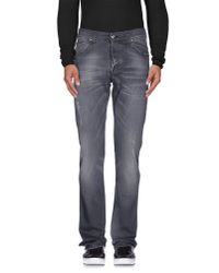 Gianfranco Ferré - Gray Denim Trousers for Men - Lyst