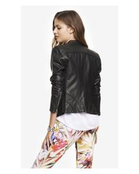 Express - Black (minus The) Leather Jacket - Lyst