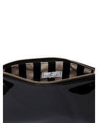 Lulu Guinness - Black Patent Leather Makeup Bag - Lyst