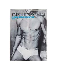 Emporio Armani | Multicolor Three-pack Cotton Briefs for Men | Lyst