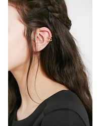Urban Outfitters - Metallic Friend Of The Night Cuff Earring - Lyst