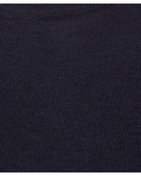 Lanvin - Blue Navy Long Sleeved Knit Jumper for Men - Lyst