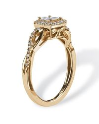 Palmbeach Jewelry | White 1/4 Tcw Princess-cut Diamond Twisting Shank Ring In 10k Gold | Lyst