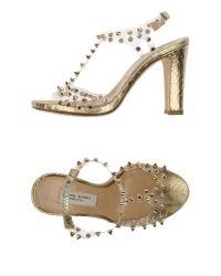 Gianni Marra - Metallic Sandals - Lyst