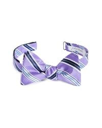 John W. Nordstrom - Stripe Silk Bow Tie - Purple for Men - Lyst