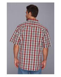 Carhartt - Red Essential Plaid Botton Down Ss Shirt for Men - Lyst