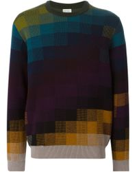 Paul Smith - Multicolor Pixel Intarsia Sweater for Men - Lyst