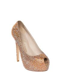 Le Silla | Metallic 130mm All Over Swarovski Calfskin Pumps | Lyst